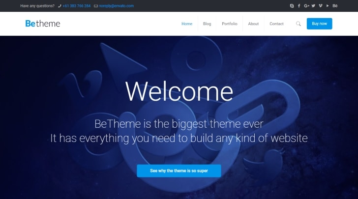BeTheme Popular WordPress Theme