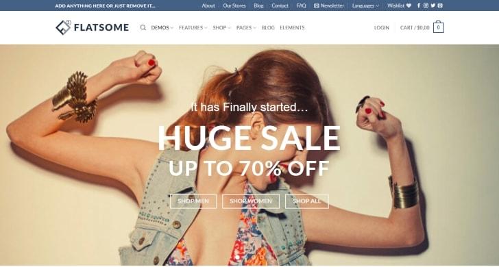 Flatsome best selling WooCommerce WordPress Theme