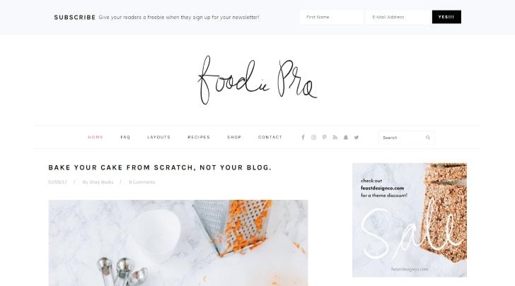 Foodie Pro StudioPress WordPress Theme