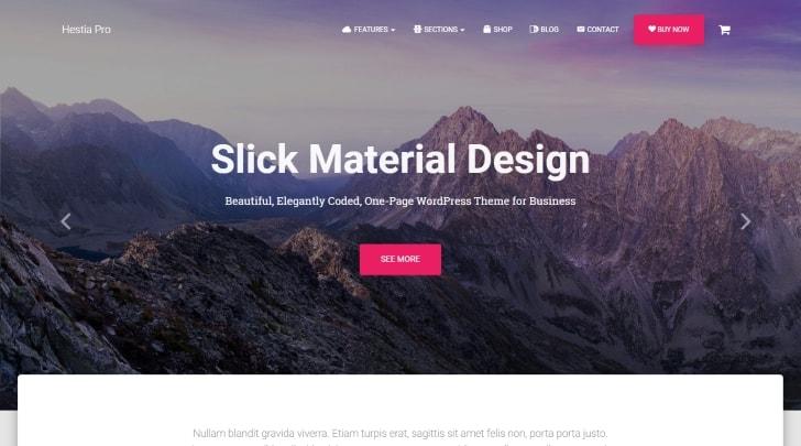 Hestia Pro Material Design WordPress Theme