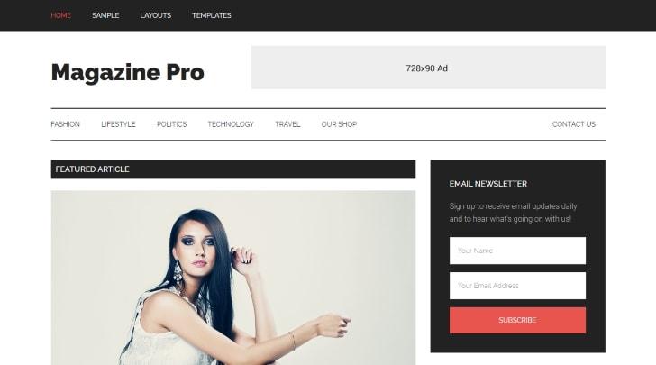 Magazine Pro Genesis WordPress Theme