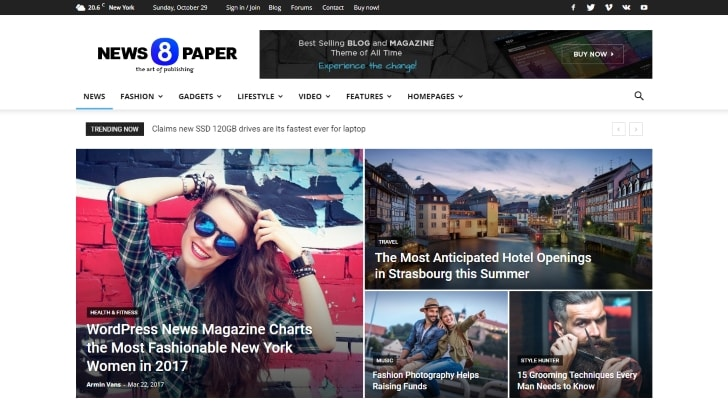 Newspaper Popular Premium WordPress Theme