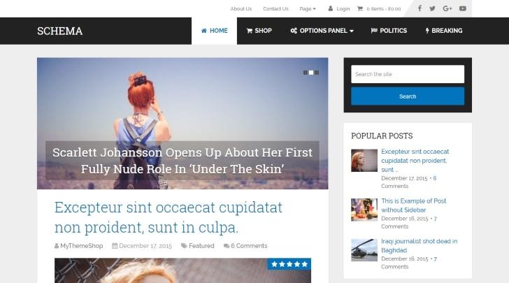 Schema Fastest WordPress Theme