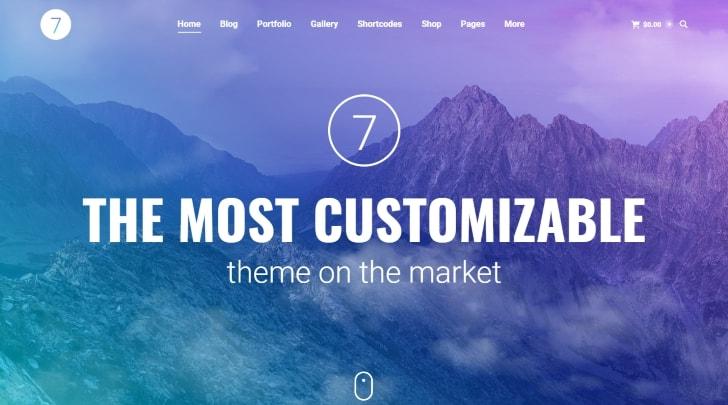 The7 Popular WordPress Theme