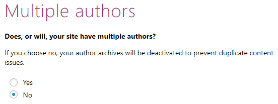 Configuration Wizard - Multiple Authors