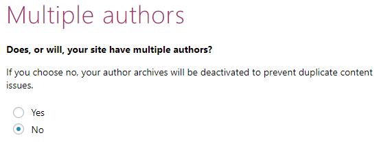 Configuration Wizard - Multiple Authors