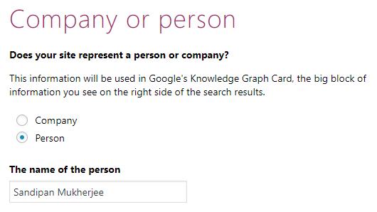 Configuration Wizard - Person or Company