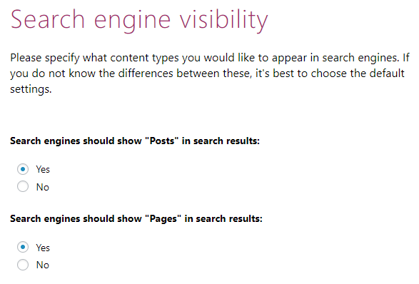 Configuration Wizard - Post Type Visibility