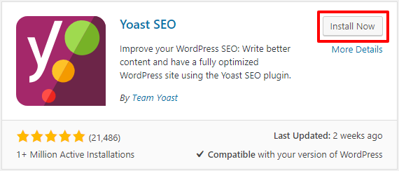 Install Yoast SEO WordPress Plugin