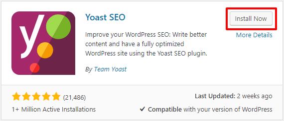 Install Yoast SEO WordPress Plugin