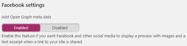 Social - Facebook Settings