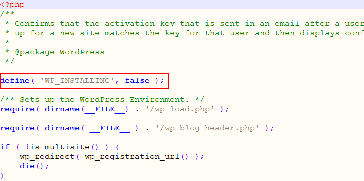 wp-activate php file