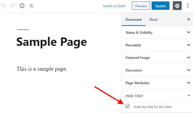 check the hide title option - title remover plugin