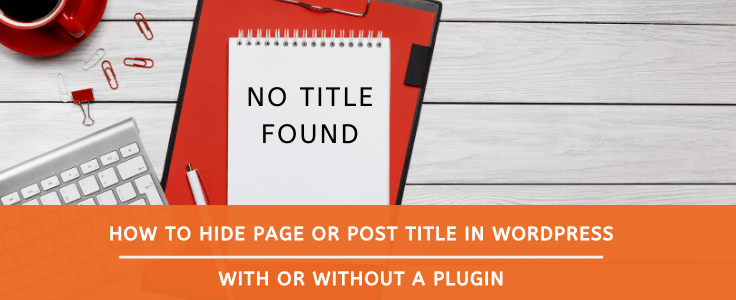 how to hide page title in wordpress