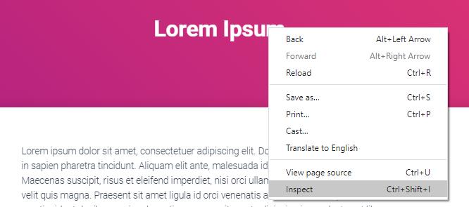 inspect title element