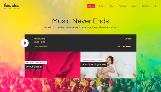 Sounder WordPress theme by themerex