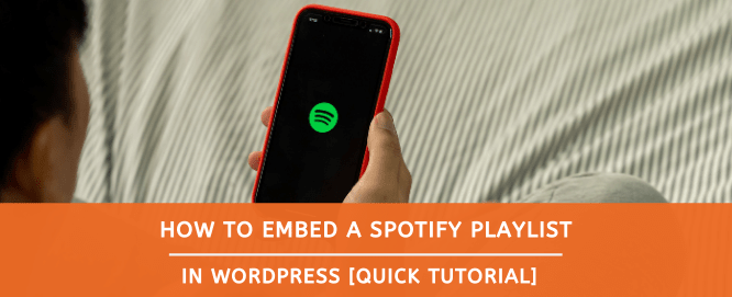 how to embed spotify playlist in wordpress